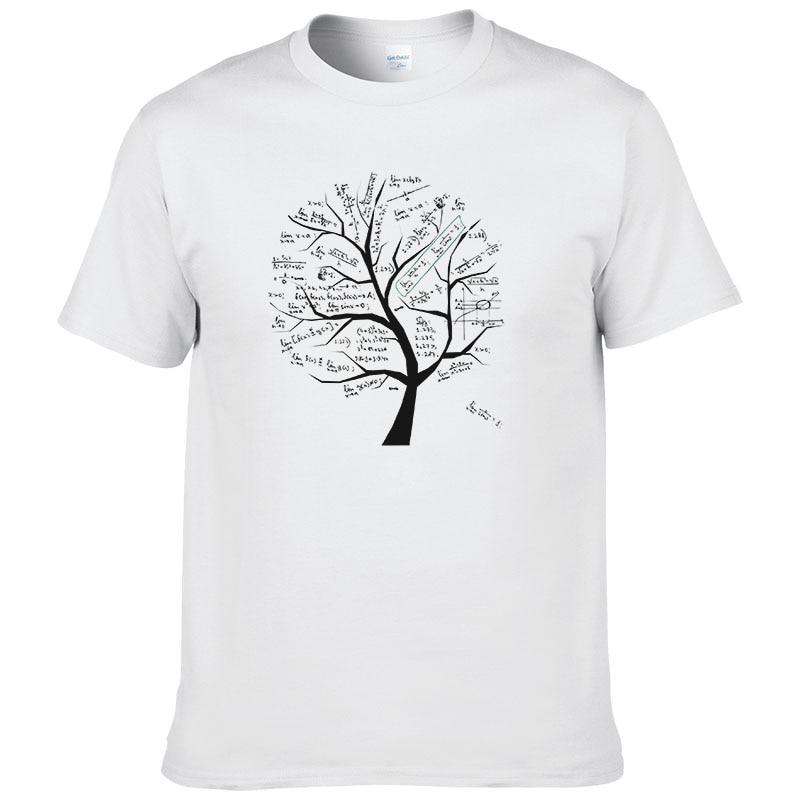 2018 matemática fórmula matemática árbol T camisa de manga corta 222