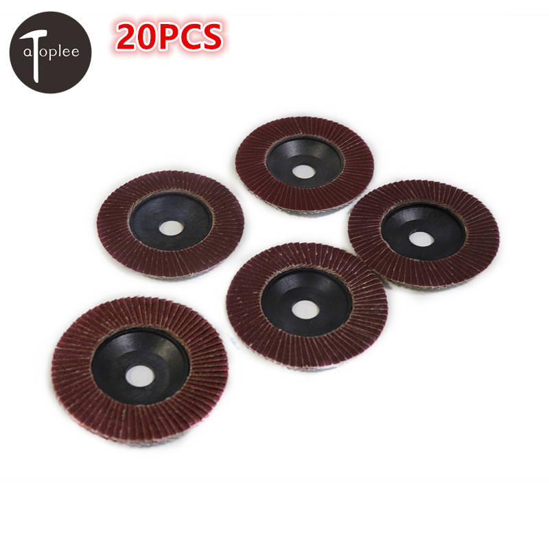 20PCS 80#/120#/180#/240#/320# Grit 100mm Flap Sanding Grinding Discs Emery Cloth Angle Wheel Grinder Abrasive Tool diamond angle grinder wheel for glass ceramic grinding dia 100mm and 80mm hole 16mm abrasive pad 120 180 grit m007