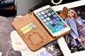 7/7 Плюс Бумажник Чехол ForiPhone 6 6 S Плюс 5 5S SE Galaxy S5 S6 S7 Край Note7 5 4 Случай Роскошный Кожаный Чехол С Карты, Моды Крышки