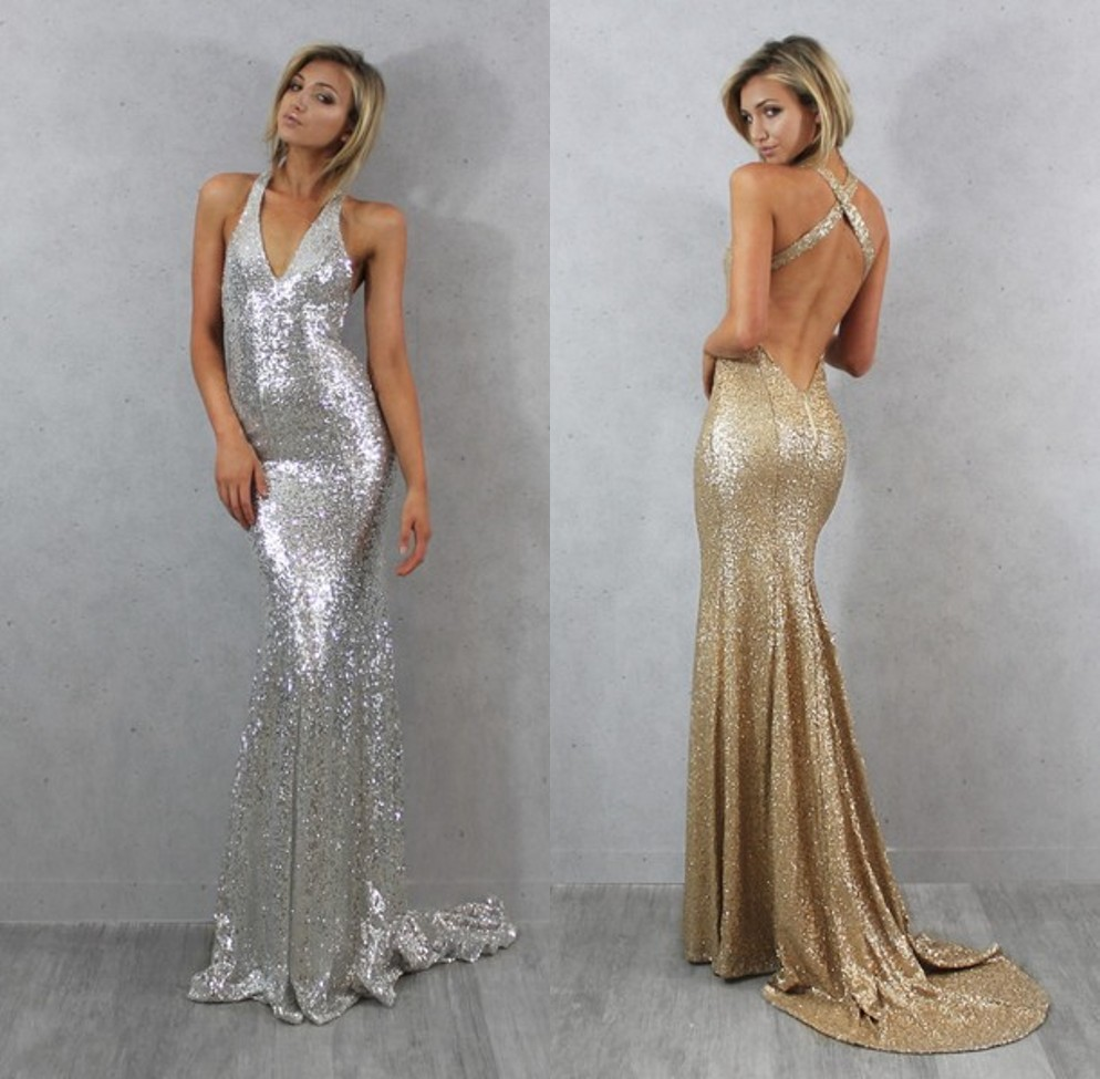 Long sparkling evening dress