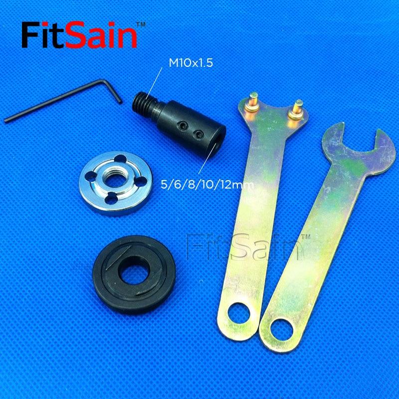 FitSain-Saw cuchilla biela buje motor eje 5/6/8/10/12 / 14mm amoladora angular de hoja de sierra para hoja de sierra agujeros de 16mm / 20mm
