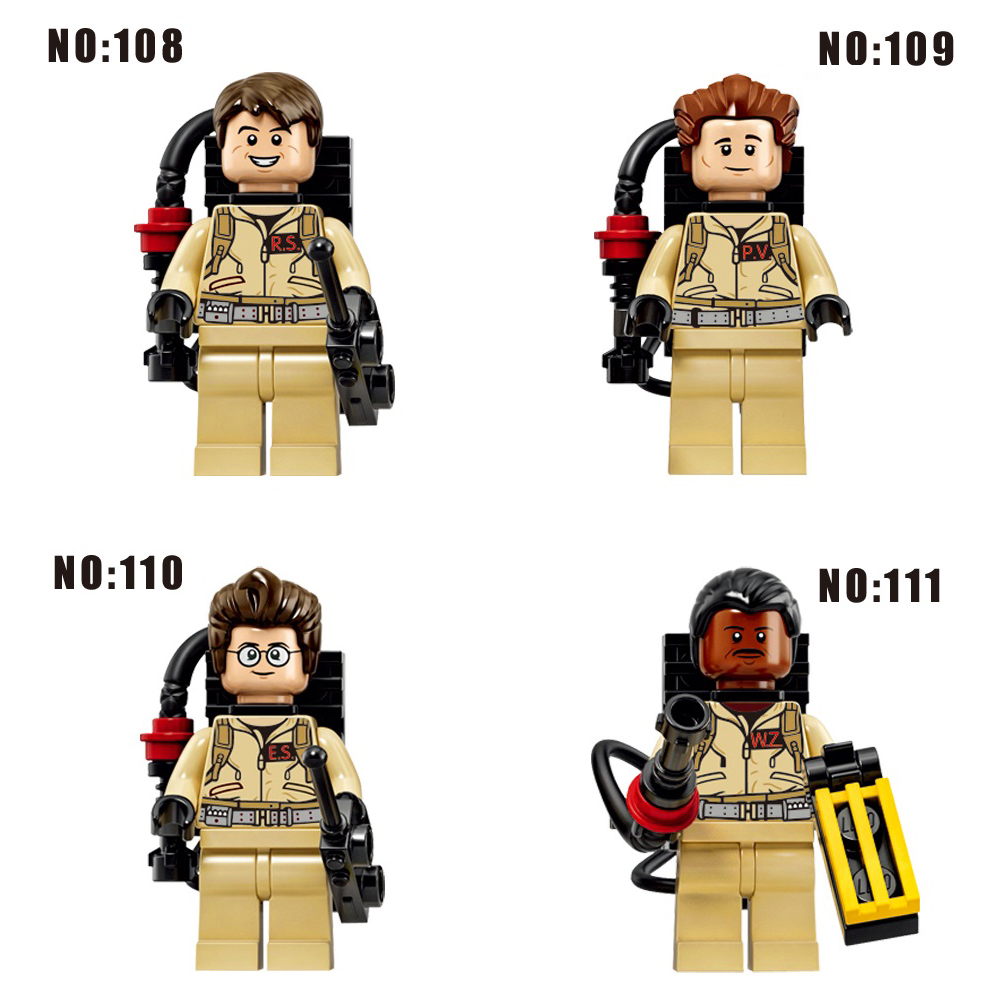 Single Sale Star Wars  Fastic Ghostbusters Members With Weapon  Bricks Building Blocks Toys For Children Legoings DC SuperHeroes