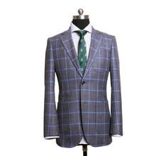 Мужской костюм на заказ, сшитый по индивидуальному заказу, однобортный мужской костюм, спортивный пиджак с отворотом, льняной, шерстяной, Шелковый мужской костюм
