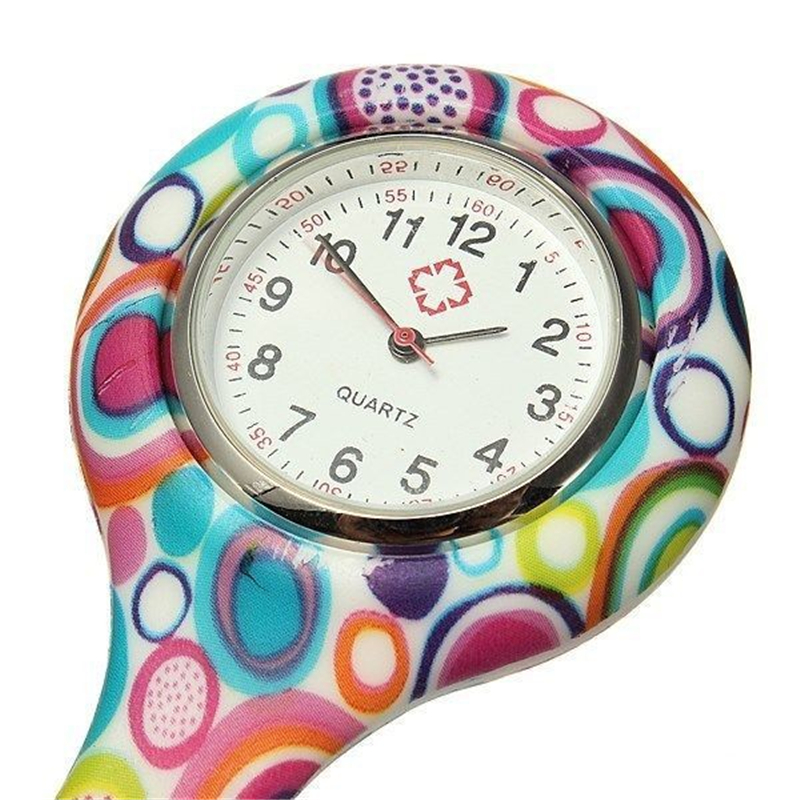 New Nurses Doctor Fob Watch Brooches Silicone Leopard Tunic Batteries Medical Nurse