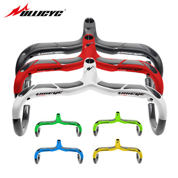 Ullicyc Quality Road Bicycle Handlebar With Stem Full Carbon Cycling Cycle Bent bar Bkie Handlebar 400/420/440*90/100/110/120mm