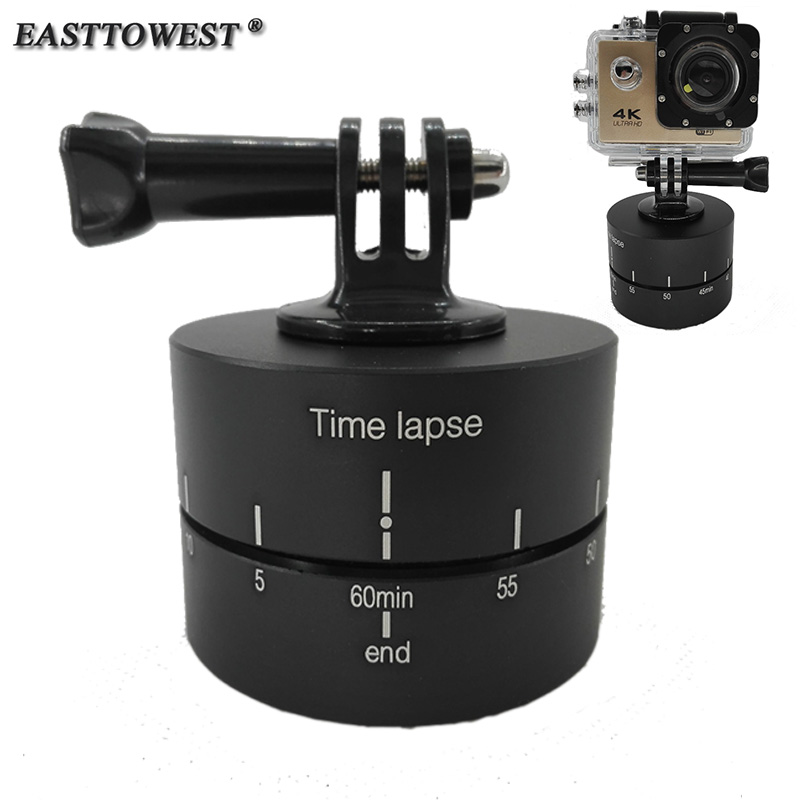 Prix pour Go Pro Accessoires 60 Munites 360 Degrés Panoramique Tournant Time Lapse pour DSLR Gopro Hero 4 3 Xiaomi Yi SJ4000 Camera Action