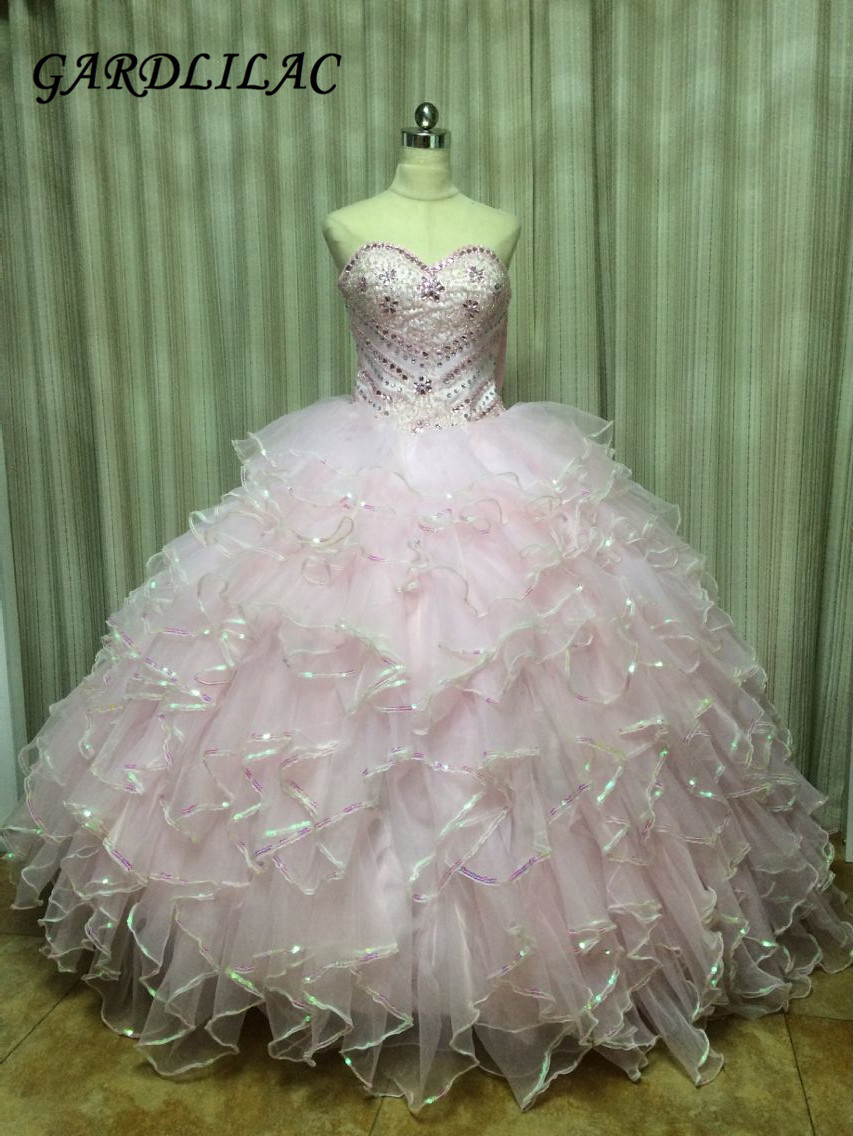 Abiti da damigella d'organza lungo Quinceanera 2016 Big Floral Peplum Girls Pageant Dress Sweet 16 Ball Gown vestido debutante