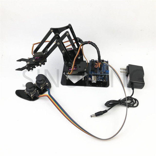 4DOF manipulator arduino Robotic arm remote control ps2 mg90s SNAM1900