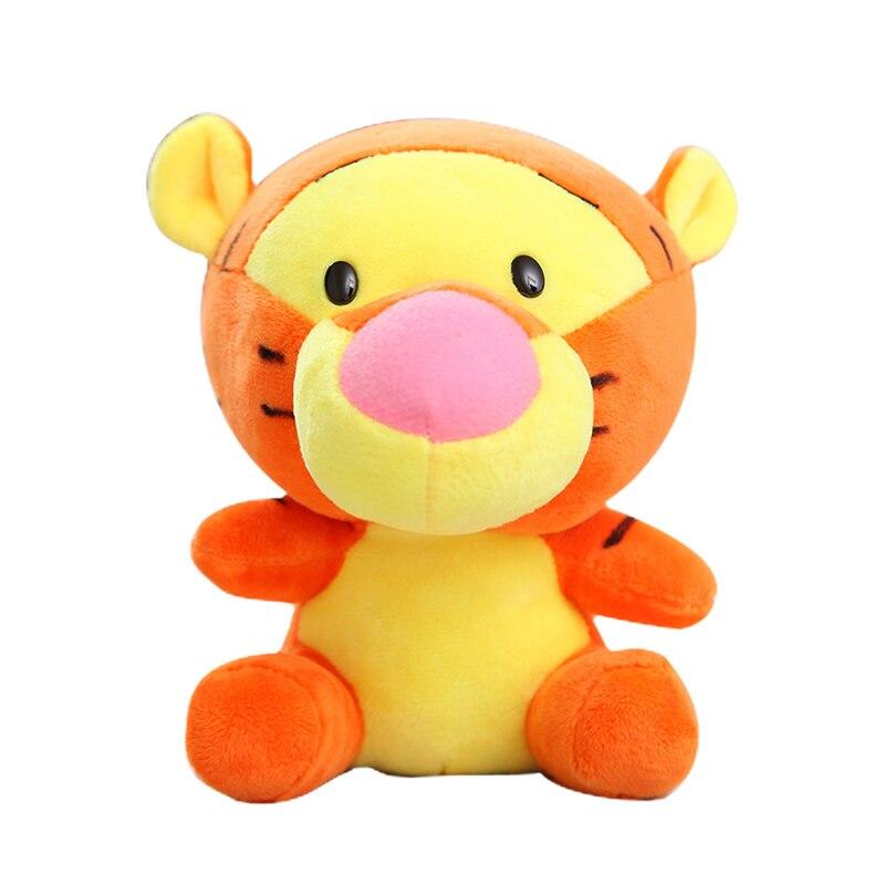 Дисней мягкие животные Плюшевые Микки Маус Минни Винни Пух Кукла Лило и чехол для телефона поросенок Стич брелок Подарочный на день рождение малыш девочка игрушка - Цвет: Tiger