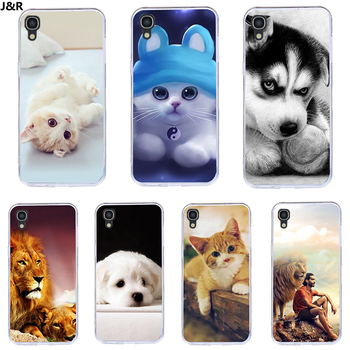 J&R Painted Case For Alcatel OneTouch Idol 3 Cover Silicone For Alcatel Idol 3 5.5 inch 6045 OT-6045 OT6045 6045Y Cute Animal image
