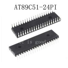 50pcs/lots AT89C51-24PI AT89C51-24PU AT89C51 DIP-40 New original IC In Stock