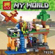340Pcs New Technic Mine World series Holloway Model Building Blocks Compatible Legoed My Craft Educational Toys for Children