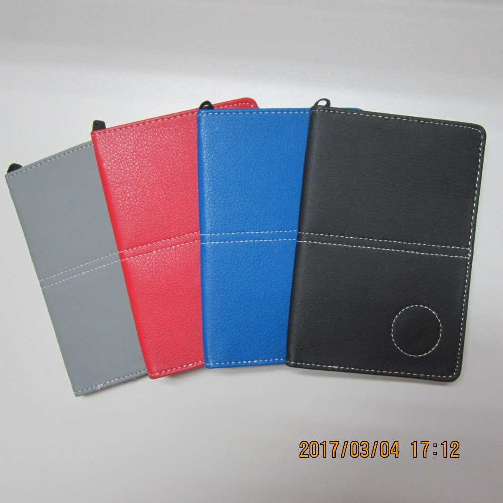 Assorted Color Synthetic Leather Golf Score Card Holder