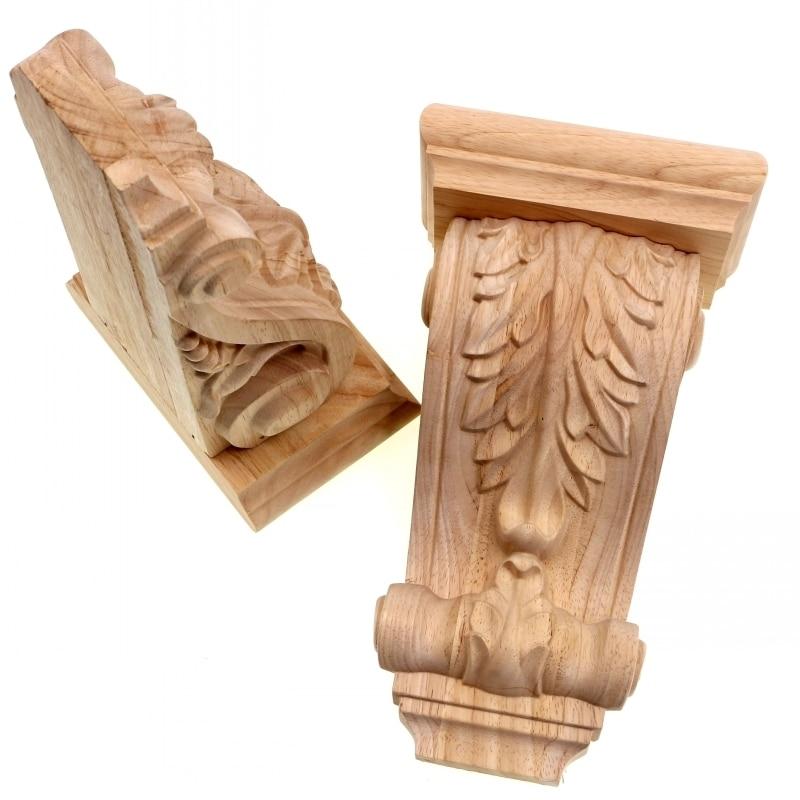RUNBAZEF Rome Wood Wardrobe Decorative Corbel Applique Stigma Carved Shavings Wedding Decoration Miniaturas Craft Home Decor