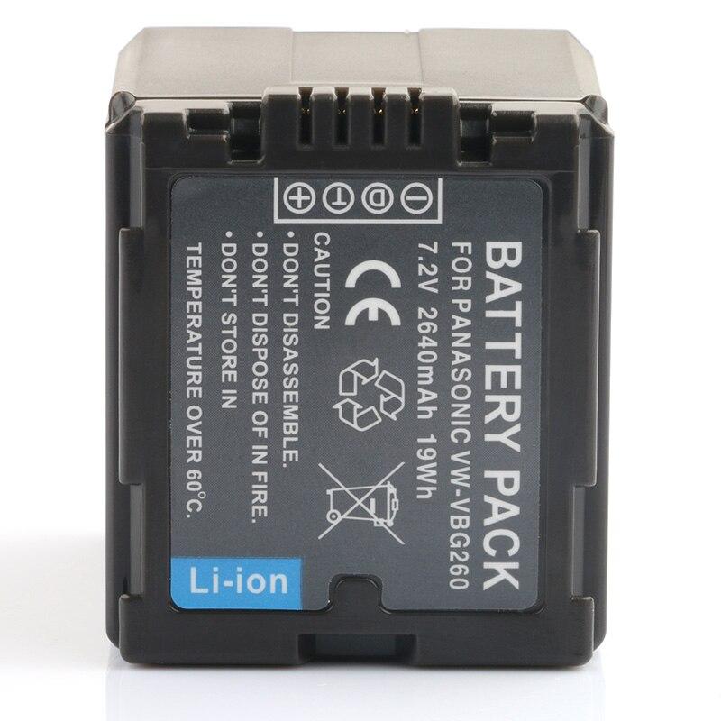 AKKU für Panasonic HDC-SD-9 HDC-SD-10 HDC-SD-20 VBG130 VBG260