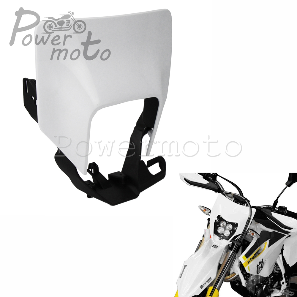 Motocross Headlight White Headlamp Cover For <font><b>Husqvarna</b></font> 701 Supermoto FE 250 350 450 501 TX <font><b>TE</b></font> 125 150 250 <font><b>300</b></font> 2017-2018 <font><b>2019</b></font> image