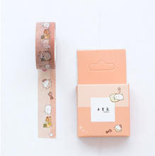 Lovely molang rabbit washi tape masking tape DIY decoration Scrapbooking Sticker Label Masking Tape School Office Supply