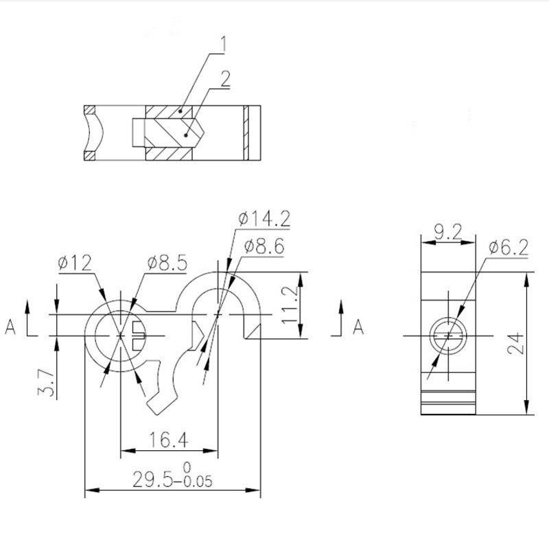 Aluminium MCB Miniature Electrical Circuit Breaker Locks
