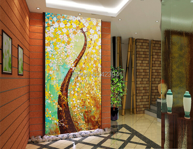 Buy can customized large 3d wall mural for Good luck home decor