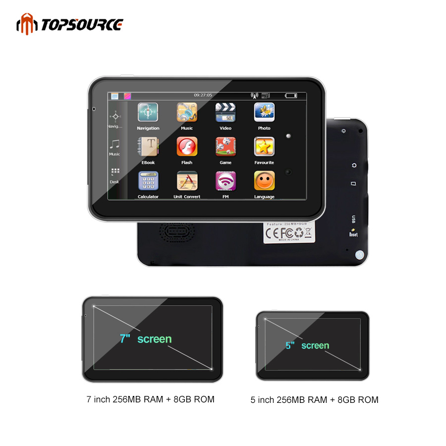TOPSOURCE 5 «7» 256M 8G hd автокөлік GPS - Автомобиль электроникасы - фото 5