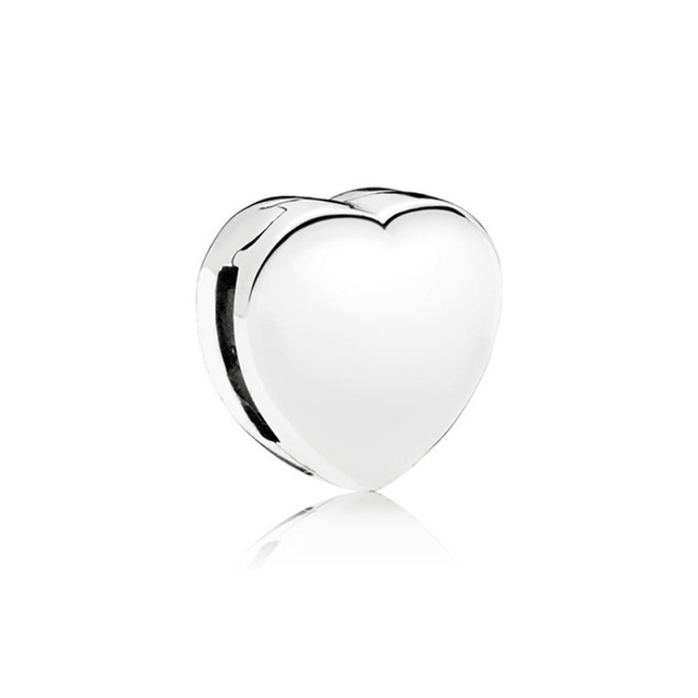 Real 925 Sterling Silver Bead Charm Reflexions Elegance Clip With Crystal Beads Fit Pandora Bracelets Women Diy Jewelry 2019