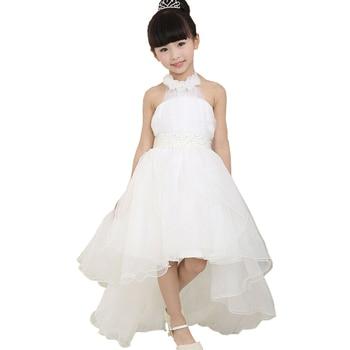 New 2017 Summer 6 7 8 9 Yrs Wedding Party Formal Gown Children Baby Kids Girls Communion Dress for Flower Girl Princess Dresses
