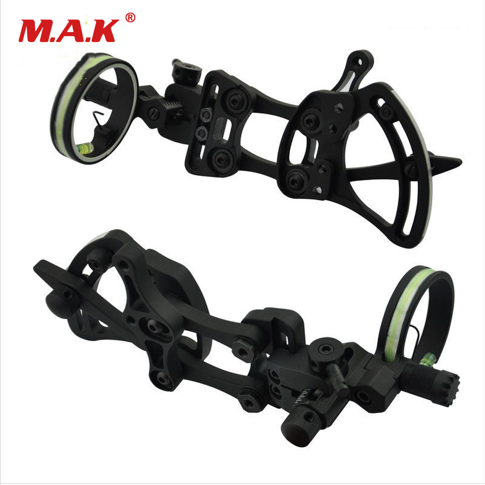 Compound Bow Sight 1 Pin 0.019 with Quickly Adjust Detachable Bracket TP9510-CAMO for Hunting Archery 4 color compound bow sight 1 pin 0 019 with quickly adjust detachable bracket tp9510 camo for hunting shooting archery