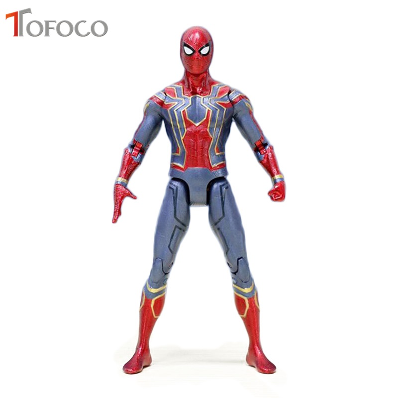 TOFOCO Movable Magic Spider Man Figure Amazing SpiderMan Action Figures Hot Toys Hero PVC 16cm Model Gifts