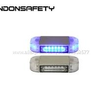 200 мм Мини светодиодный проблесковый маячок для аварийного предупреждения, с 18 шт светодиодный s, алюминиевый корпус, двойной/multivolt 9-30 V, янтарный фиолетовый