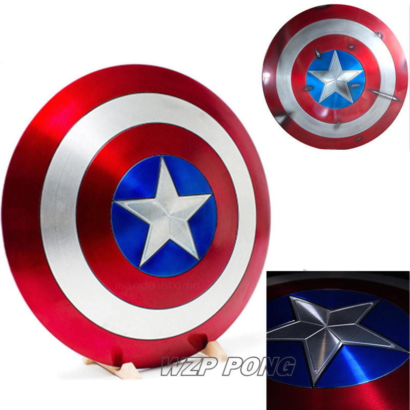 Avengers 1:1 Captain America alloy Shield Cosplay Party Model Collection Action Figure Toys Birthday GiftAvengers 1:1 Captain America alloy Shield Cosplay Party Model Collection Action Figure Toys Birthday Gift