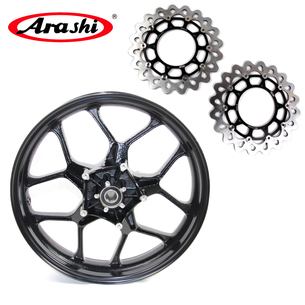Arashi YZF-R1 2015-2017 Front Wheel Rim Brake Disc Rotor Disc For Fit YAMAHA YZF R1 2015 2016 2017 Glossy Black 6061-T6 Aluminum конструктор снпч пзк для canon pixma mg2540