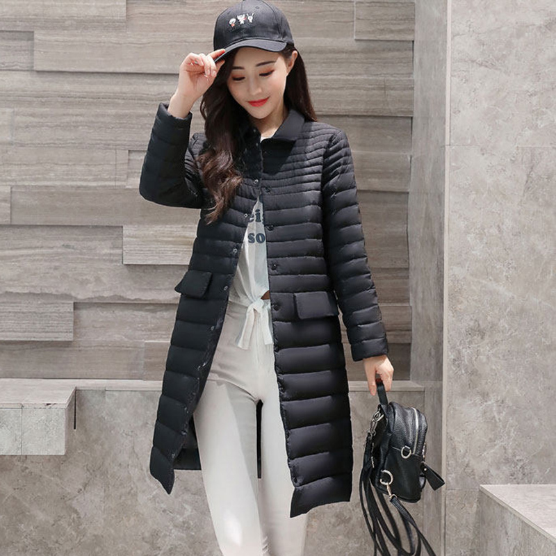 plus size Padded Coat Ultra warm Light white Duck Down Jacket Long Overcoat Slim Solid Jackets Winter Coats Women Parkas QH0875 winter keep warm thicken women s cotton slim long coat hooded parka jackets coats white overcoat plus size down parkas clothes