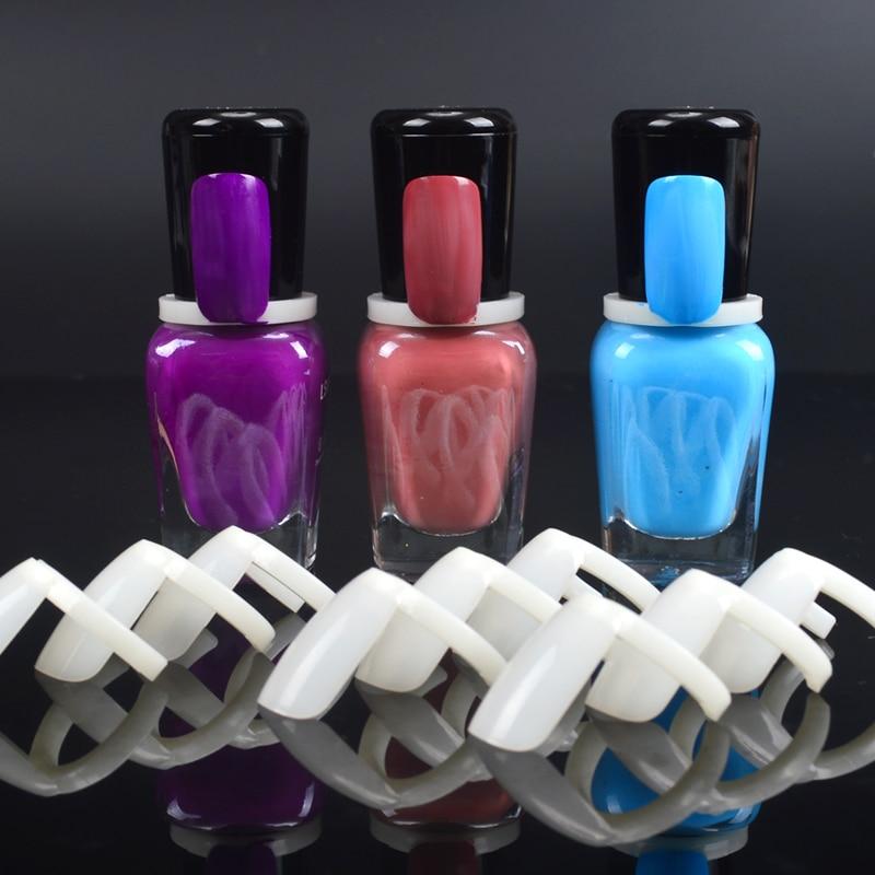 50 Pcs Nail Polish UV Gel Color Pops Display Natural Nail