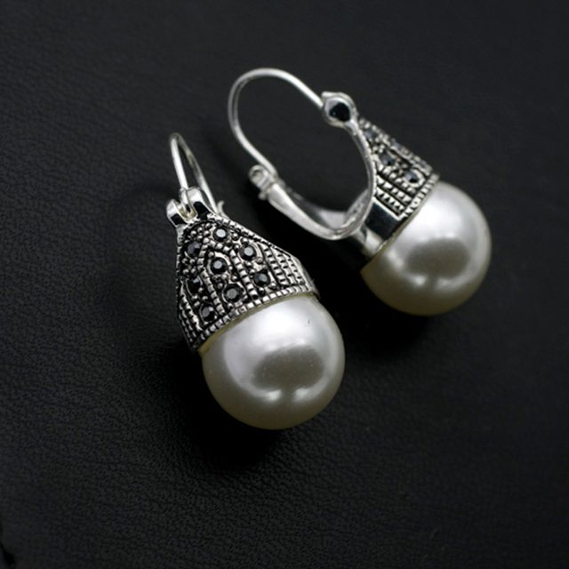 Aliexpresscom Buy New Vintage Thai Silver Plated Pearl Drop