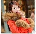 Envío gratis puños de piel de anillo, moda invierno fox mapache bufanda de la piel chales