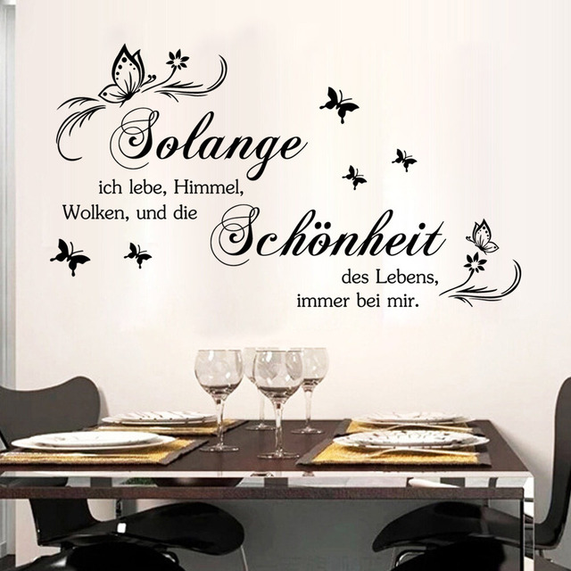 Art German Quote Wall Stickers DIY Home Decorations Wall Decals Living Room  Quote Part 45