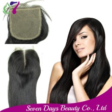 8A Free Shipping Peruvian Silk Base Closure 4*4 Best Closure Middle Free Part Three Part Natural 1B Color Silk Base Top Closure