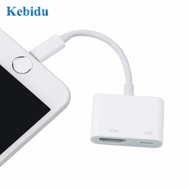 Kebidu 8Pin כדי HDMI עבור iPhone עבור תאורה זכר לנקבה HDMI מתאם כבל ממיר אודיו וידאו Adapte החדש