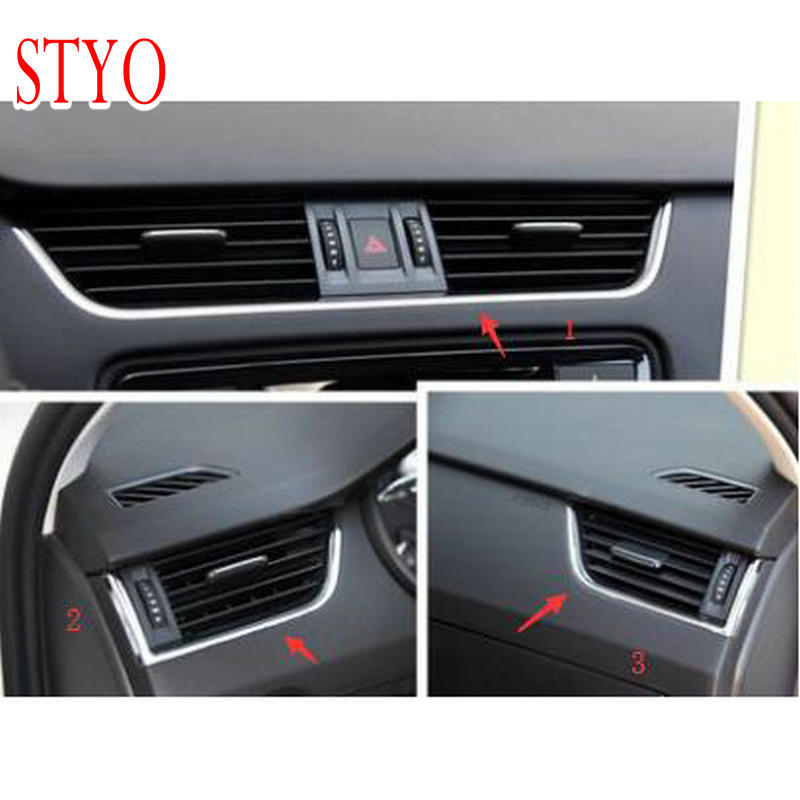 STYO Car Dashboard air vent air outlet cover for MQB Octavia 2015 2016 2017 2018