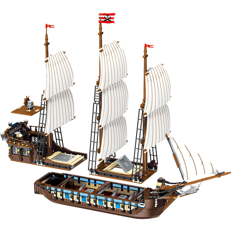 1779pcs Imperial battleship Compatible LegoINGlys 10210 Classic Pirates Of the Caribbean Building Blocks Set Construction Toys hot classic movie pirates of the caribbean imperial warships building block model mini army figures lepins bricks 10210 toys