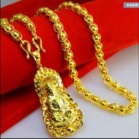 18K gold chain long section of thick Mens Tyrant domineering female models jewelry necklace