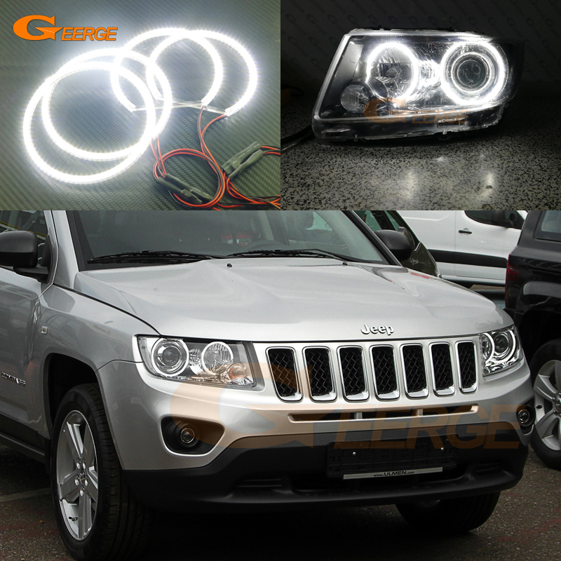 For JEEP COMPASS 2011 2012 2013 2014 2015 2016 Xenon headlight Excellent Ultra bright smd led Angel Eyes Halo Ring kit bigbang 2012 bigbang live concert alive tour in seoul release date 2013 01 10 kpop