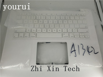 yourui For Apple Macbook  A1342 Laptop Palmrest used Top case upper cover with us keyboard Shell White