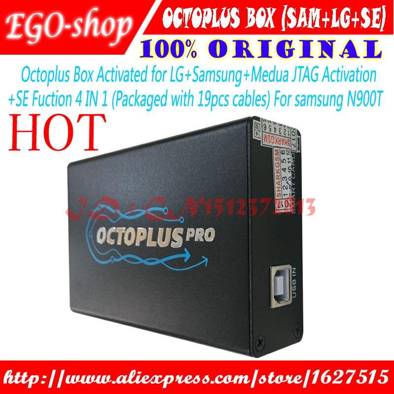 Gsmjustoncct Octoplus Box Ensemble Complet pour Samsung Pour LG + SE + Medusa JTAG Activation (Paquet Avec 19 pcs câble ensemble)
