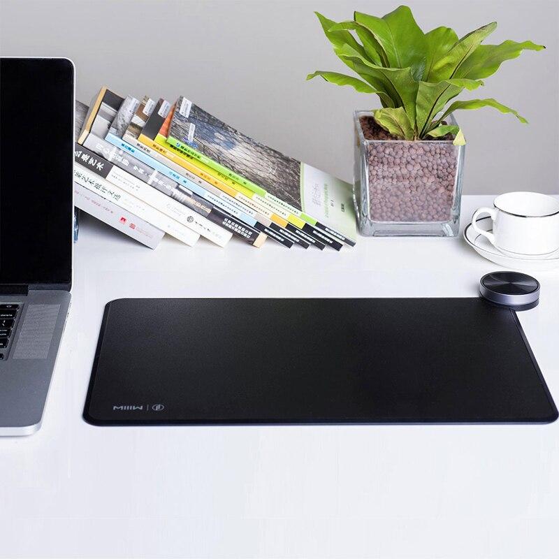 D'origine Xiao mi mi IIW MWSP01 Smart Qi Standard Support mi mi x2S sans fil charge tapis de souris RGB lumière tapis de souris ABS tapis de souris - 2