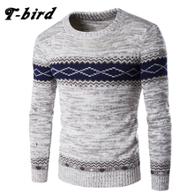 T-bird 2017 New Brand Fashion Autumn Mens Sweaters High Quality Christmas Sweater Dress Cusual Male Pullovers Knitwear Tops XXL