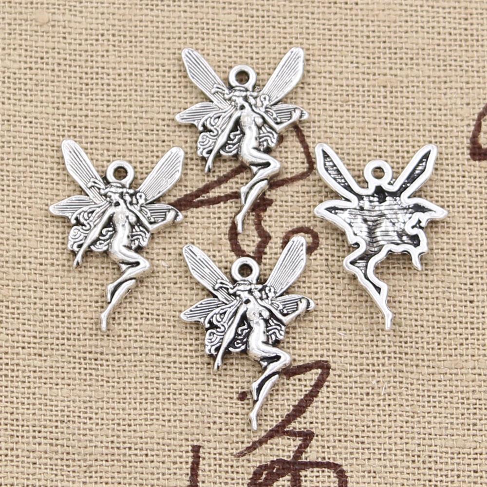 30pcs Charms Angle 27x16mm Handmade Craft Pendant Making fit,Vintage Tibetan Silver color,DIY For Bracelet Necklace 1