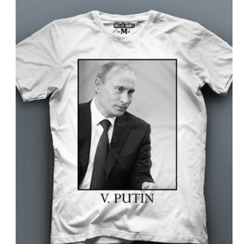 Patriotic T-shirt with image of Russian President Vladimir Putin Quality T Shirts Men Printing Short Sleeve O Neck Tshirt