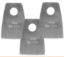 3 pcs flat knife edge scraper for oscillating muti tool power tool as Ridgid Worx AEG