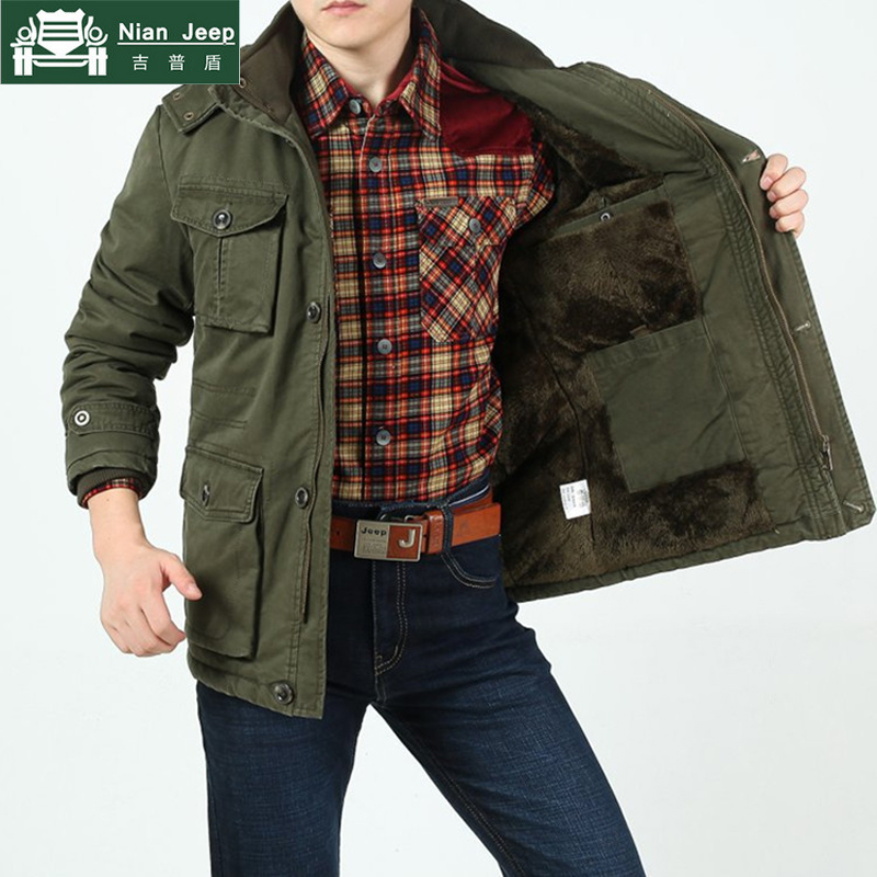 2a839b7cd254e Plus Size 8XL 2018 Brand Army Mens Winter Warm Thicken Jackets   Coats 100%  Cotton Comfortable and Warm Military Style Jackets